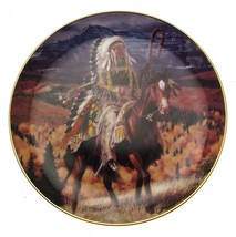 Guarding The Plains Tom Beecham Native American Plate CP2577 - $35.98