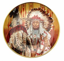 Chief Of The Piegon Blackfoot Tom Beecham Native American Plate CP2578  - $35.98