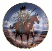 Proud Hunter Tom Beecham Native American Plate CP2579 - $35.98