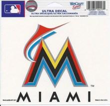 "MLB Miami Marlins Logo Wincraft Multi-Use Ultra Decal Cling ""5x6""  - $6.95"