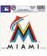 "MLB Miami Marlins Logo Wincraft Multi-Use Ultra Decal Cling ""5x6""  - $6.95"