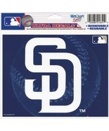 "MLB San Diego Padres SD Logo Wincraft Multi-Use Ultra Decal Cling ""5x6""  - $6.95"