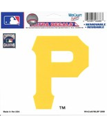"MLB Pittsburgh Pirates P Logo Wincraft Multi-Use Ultra Decal Cling ""5x6""  - $6.95"
