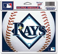 "MLB Tampa Bay Rays Logo Wincraft Multi-Use Ultra Decal Cling ""5x6""  - $6.95"
