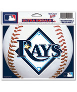 "MLB Tampa Bay Rays Logo Wincraft Multi-Use Ultra Decal Cling ""5x6""  - $6.95"