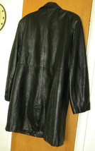 WOMEN L Whet Blu Black Leather accentuating shape mid-length woman's jacket - $20.00