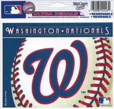 "MLB Washington Nationals Logo Wincraft Multi-Use Ultra Decal Cling ""5x6""  - $6.95"
