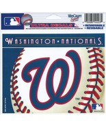 "MLB Washington Nationals Logo Wincraft Multi-Use Ultra Decal Cling ""5x6""  - $6.95"