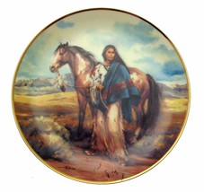 Woman Of The Wind Vel Miller Native American Woman Plate CP2580 - $35.98