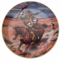Free As The Wind Tom Beecham Native American Plate CP2576 - $35.98
