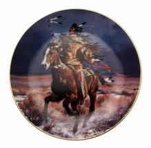 Triumphant Warrior Tom Beecham Native American Plate CP2588 - $35.98