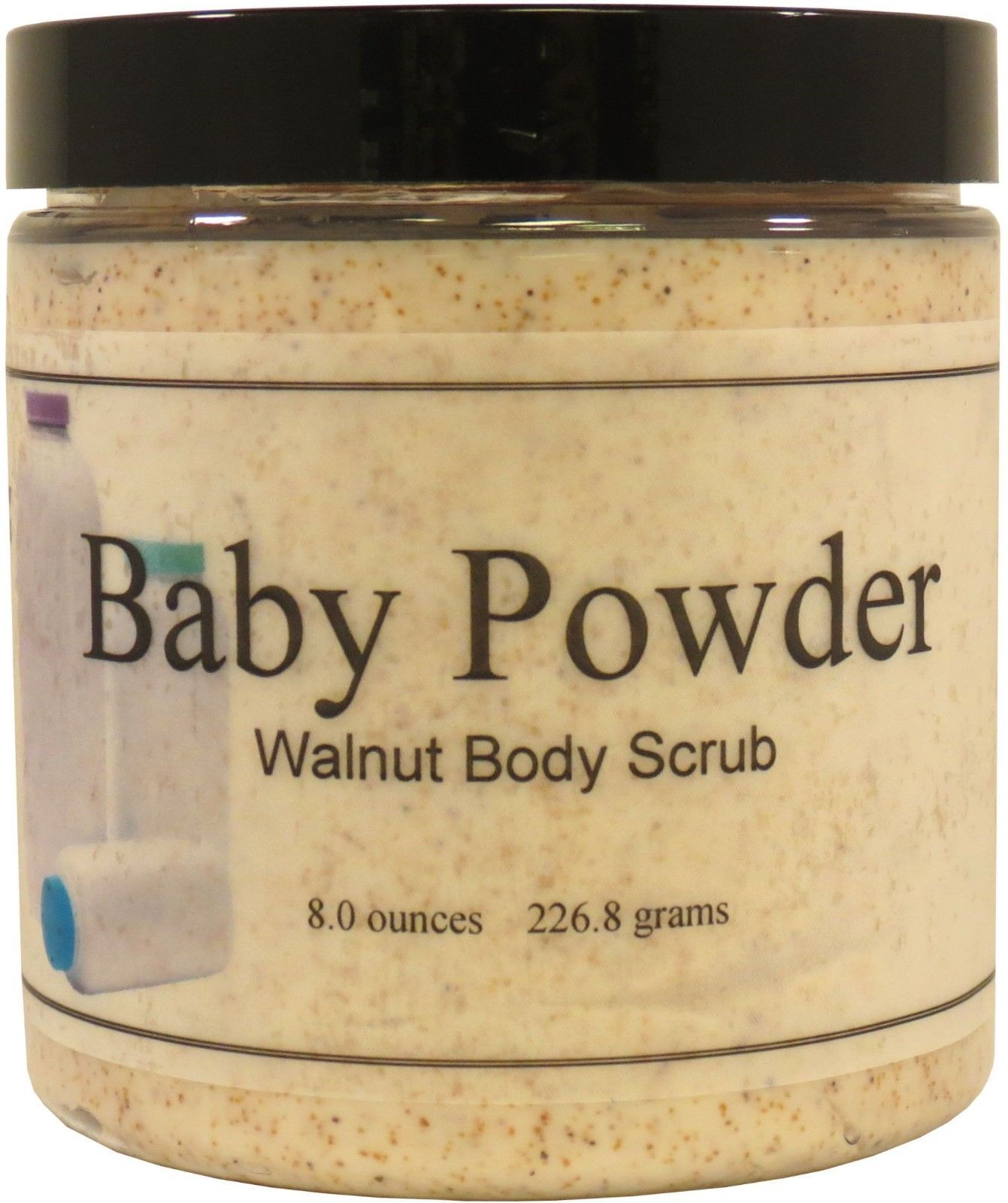 Baby Powder Walnut Body Scrub