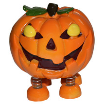 Spring Leg Pumpkin Monster Halloween Money Safe Coin Bank - $16.82