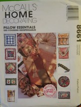 MCCALLS HOME DECORATING PILLOW ESSENTIALS SEWING PATTERN #8661 NEW Uncut - $4.95