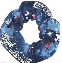 New England Patriots Tie Dye Fabric Hair Scrunchie Scrunchies by Sherry ... - $6.99