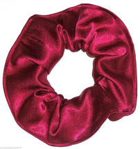 Maroon Satin Hair Scrunchie Scrunchies by Sherry Ponytail Holder Tie - $6.99