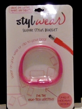 StylWear Silicone Stylus Bracelet For The High Tech Lifestyle pink - $5.99