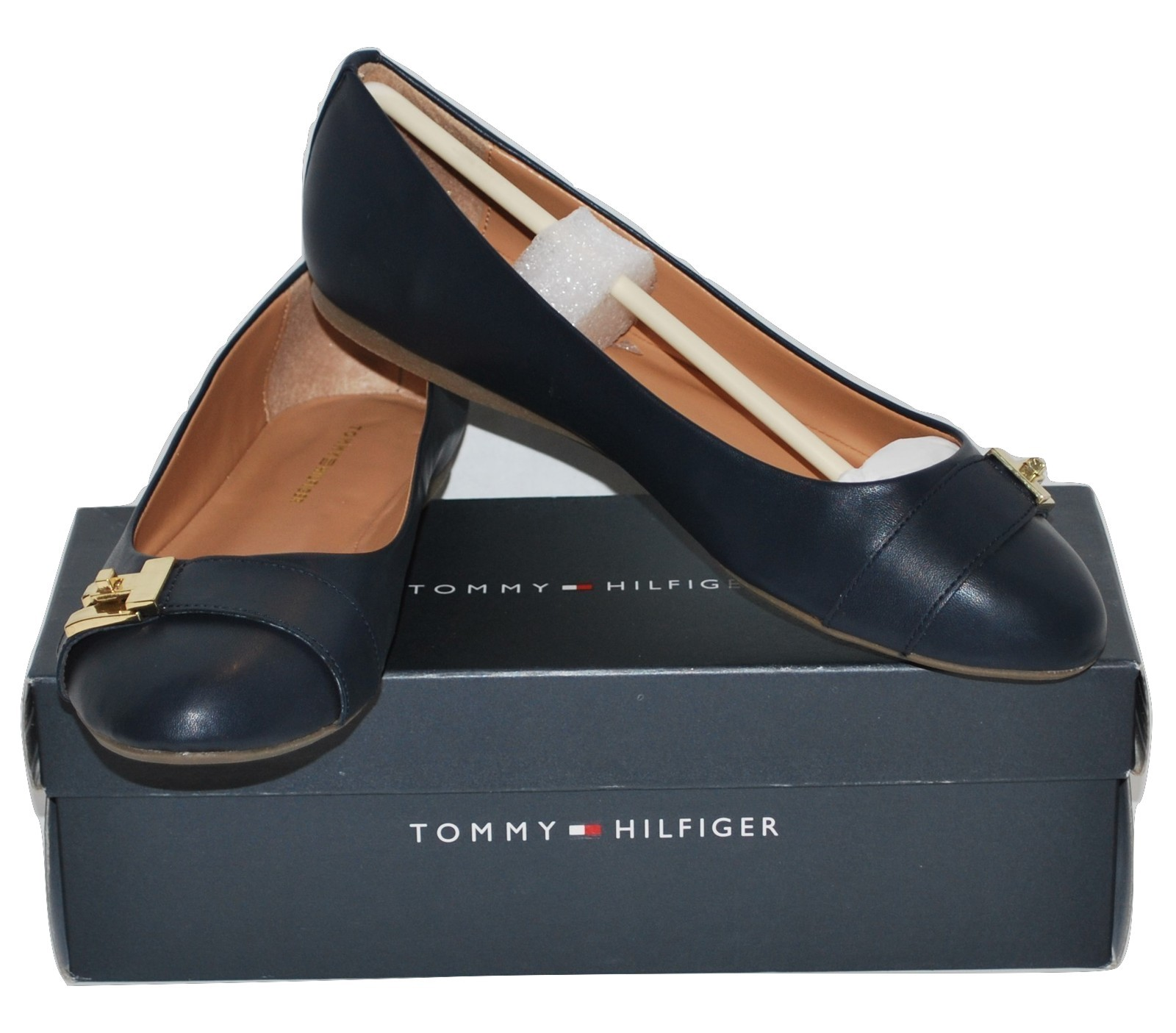 New Tommy Hilfiger Women's Dark Blue Flats (TWCATYAN2) Choose Size