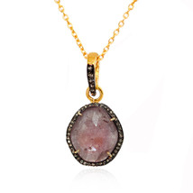 Ruby Necklace, Sterling Silver Gemstone Pendant, Gemstone Ruby Gift Jewelry - $95.00