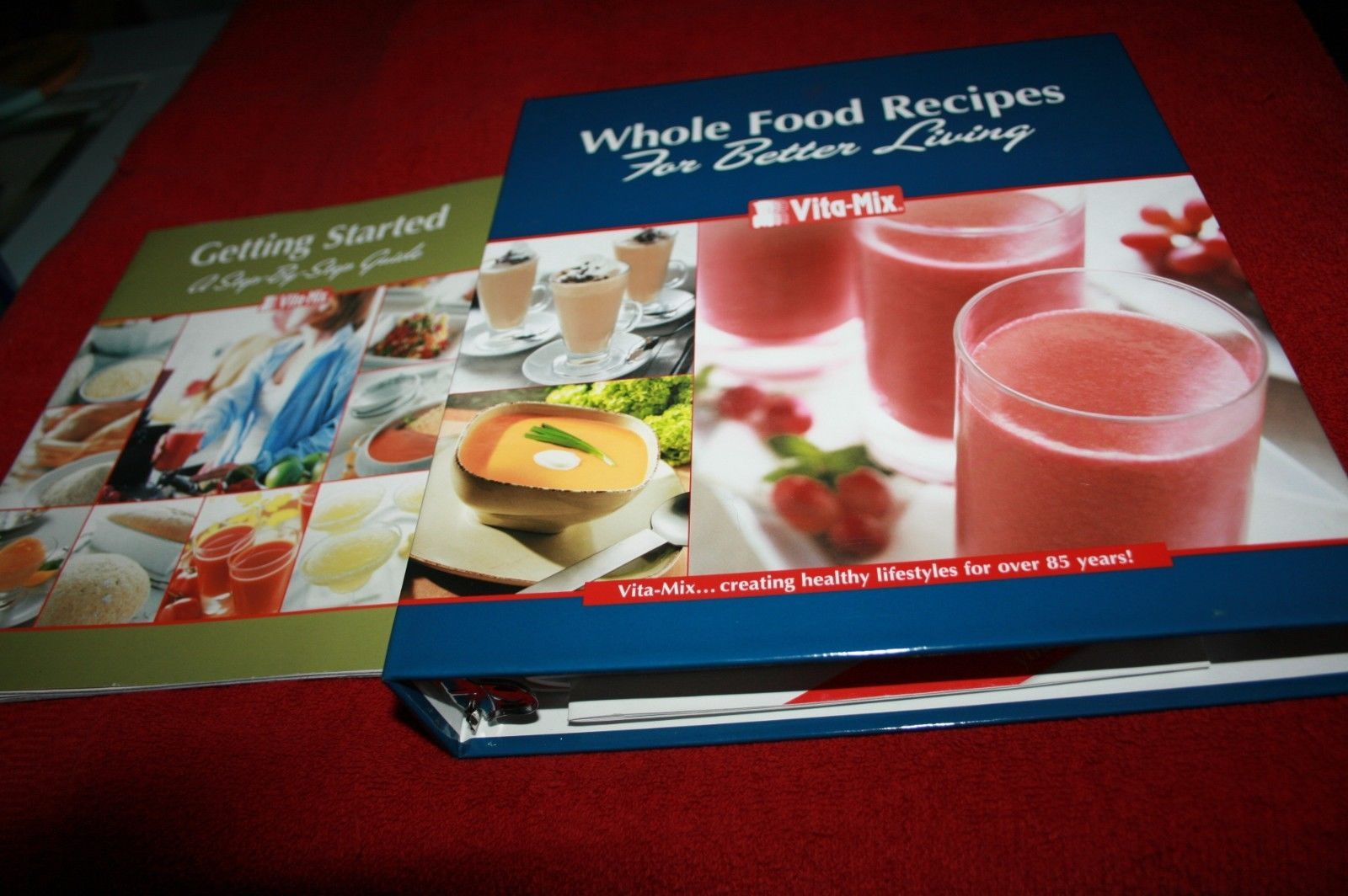 Cookbooks books vita mix whole food recipes for better living cookbook with owners manual clean forumfinder Choice Image