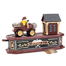 Fire Engine Station Number 1 Collectors' Die-Cast Iron Mechanical Coin Bank - $57.08