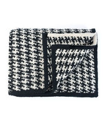 Kashwere Black & Creamy White Houndstooth Throw Blanket - $165.00