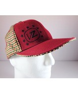 Von Zipper Mens VZ Hat Red Checked A-Flex Fitted Cap Size M - $24.95