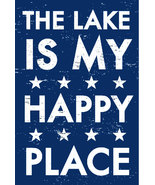 Lake Decor Rustic Wooden Sign  The Lake Is My Happy Place  6 x 10  Item ... - $22.00