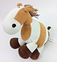 Beverly Hills Teddy Bear Co Horse Pony Brown Off White Plush Stuffed Ani... - $9.74