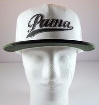 PUMA Plumas Pines Mens Snapback Hat Dry Cell White Dark Gray Adjustable Cap - $24.95