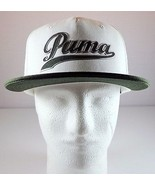 PUMA Plumas Pines Mens Snapback Hat Dry Cell White Dark Gray Adjustable Cap - $24.95