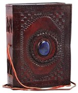 Embossed Leather Blue Stone 120 Page Unlined Journal with Clasp by Azure... - $21.28