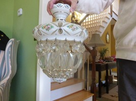West Germany US Zone Lighting Chandelier Crysta... - $395.00