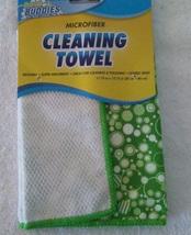 KITCHEN CLOTHS 5-pc SET Green Bubbles design Microfiber Towels Scrub Sponge NEW image 3