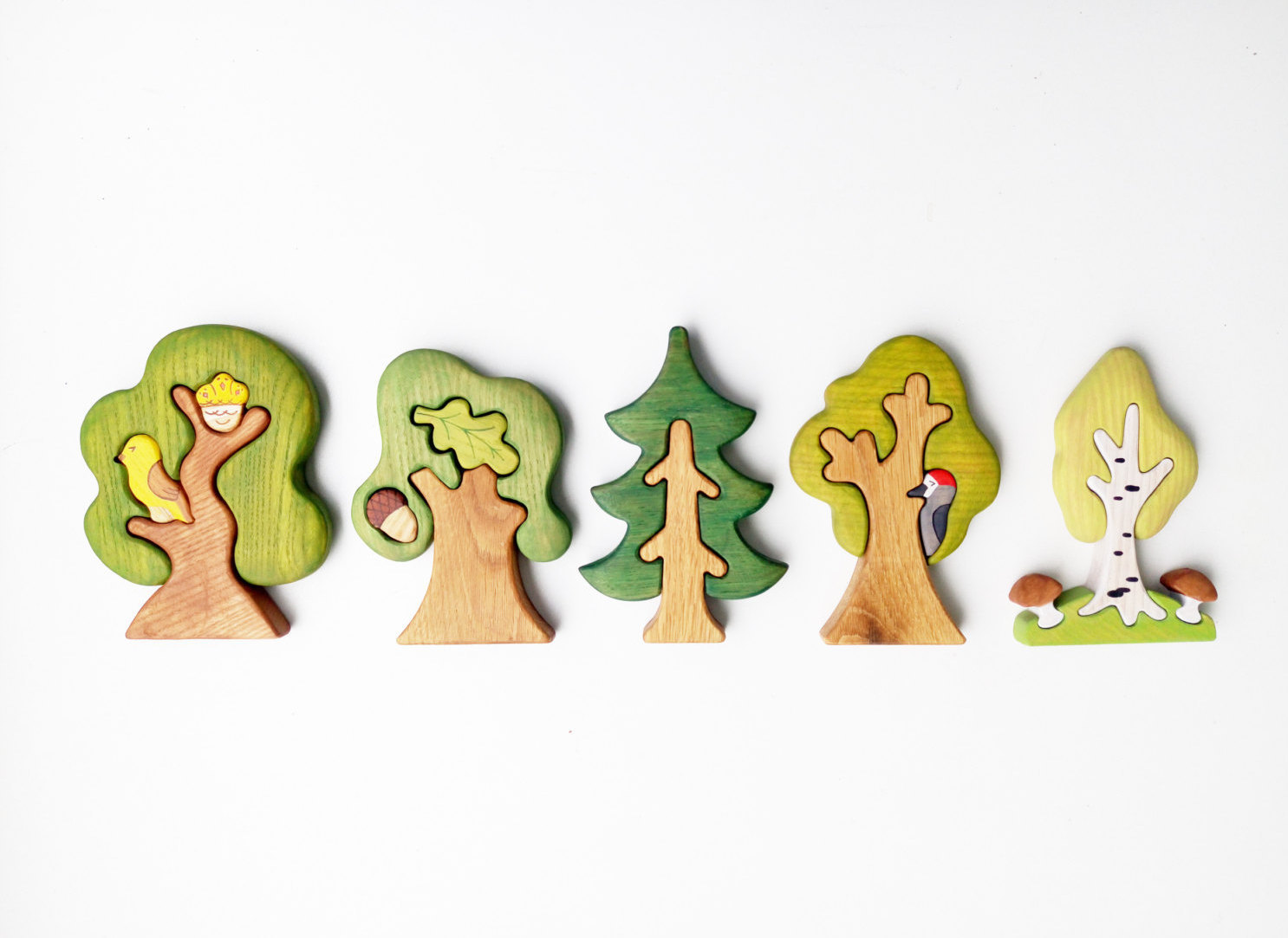 Waldorf tree fir tree.  Waldorf nature table. Pincone tree toy. X-mas tree
