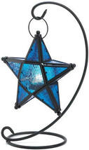 Gifts and Decor Blue Sapphire Star Tabletop Candleholder Lantern Decor - $52.96