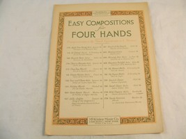 McKinley - Easy Compositions for Four Hands Vintage Sheet Music - $1.99