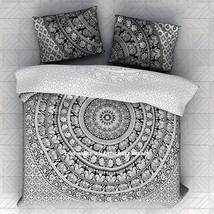 Elephant Mandala Cotton Twin Size Bedspread Indian Wall Hanging Boho Bed... - $25.75