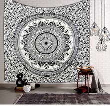 Indian Hippie Queen Tapestry Ombre Mandala Bohemian Wall Hanging Bedspre... - $366,57 MXN