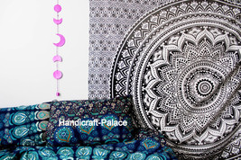 Queen Hippie Tapestry Indian Bohemian Ombre Mandala Wall Hanging Throw B... - $366,57 MXN