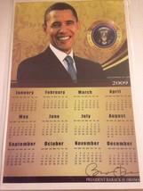 "PRESIDENT BARACK OBAMA POSTER PRESIDENTIAL SEAL 2009 CALENDAR 17"" x 11"" - $14.75"