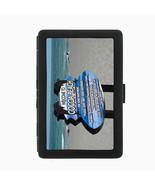 Florida Orlando Cocoa Beach D9 Black Cigarette Case Metal Wallet RFID Pr... - $11.83