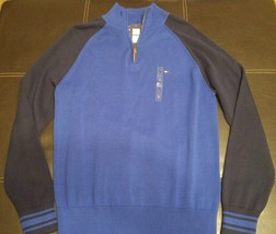 New Mens Tommy Hilfiger Pullover Half Zip Sweater Blue and Navy L - €20,01 EUR