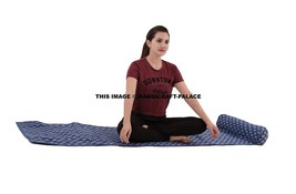 Indian Floral Yoga Mat Ethnic Cotton Quilted Pad Meditation Beach Throw ... - $42.06