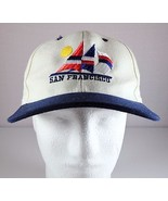 San Francisco Snapback Hat White / Dark Blue Adjustable Headmost Cap - $29.95