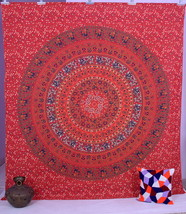 Indian Mandala Cotton Tapestry Wall Hanging Throw Vintage Bedspread Deco... - $472,22 MXN