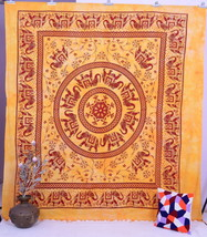 Indian Elephant Tapestry Throw Bedcover Hippy Hippie Mandala Ethnic Wall... - £17.68 GBP
