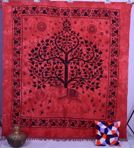 Indian Tree of Life Elephant Wall Hanging Tapestries Hippie Tapestry Bed... - £17.68 GBP