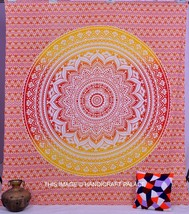 Indian Mandala Ombre Mandala Tapestry Hippie Wall Hanging Bedspread Quee... - £17.68 GBP