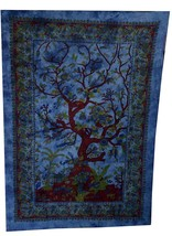 Tree Of Life Indian Tapestry Wall Hanging Throw Cotton Bedspread Decor B... - $255,20 MXN